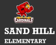 Sand Hill Elementary Logo with name