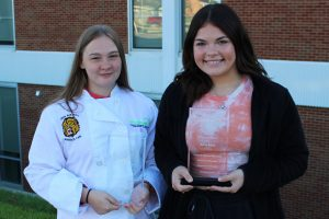 Pictured from left are the JMHS CTE Students of the Month: Anna Ayres and Emily Bailey.