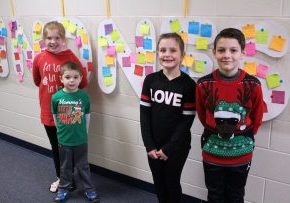 Center McMechen Elementary students are once again completing 30 Days of Kindness. They were challenged to complete at least one act of kindness every day in December.