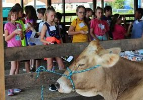 The Natural Resources Conservation Service (NRCS) and the Northern Panhandle Conservation District held the 10th annual Hands-On Ag Day Thursday and Friday at the Marshall County Fairgrounds in Moundsville for all Marshall County 5th graders.