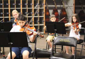 Instrumentalists of all ages have arrived at the annual Marshall County Strings Program Summer Camp. High school students are serving as mentors to younger students.