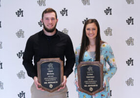 Pictured from left: 2018-2019 Mr. Monarch Chas McCool and 2018-2019 Ms. Monarch Lydia Knutsen.