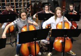 """The Marshall County Strings Program will present """"Light the Night"""" on Tuesday, February 26, 2019 at 6:30 pm in the John Marshall High School Center for Performing Arts."""