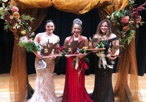 Pictured from left: Haleigh Henderson (First Runner-Up), Natalie Keim (2021 JM Queen / Miss Congeniality) and Hannah Lynch (Second Runner-Up / Miss Congeniality).