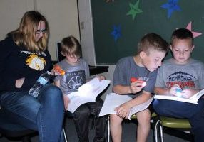 """The final Center McMechen Elementary School STEM Parent/Student Workshops of the year titled """"Reading Under the Stars"""" aimed to encourage students to read non-fiction books while motivating them to explore science."""