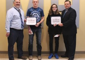The Knights of Columbus John Marshall High School Students of the Month for December are Zoe Johnson and Noah Beckett.