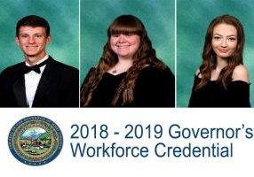 Ryan Campbell from the Management and Administrative Support program, Abigail Vargo from the Accounting and Broadcasting Technology programs and Alexa Yoho from the Therapeutic Services program have proven they have knowledge of business processes within a Simulated Workplace environment.