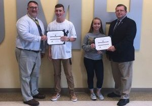The Knights of Columbus John Marshall High School Students of the Month for October are freshmen Conner Blatt and Trixie Calissie.