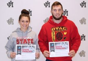 Wendy's announced Thursday that John Marshall High School seniors Lydia Knutsen and Chas McCool are Wendy's High School Heisman State Finalists.
