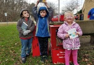 """The Washington Lands community recently celebrated the """"Grand Opening"""" of its own Little Free Library."""