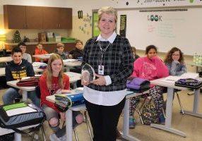Kersten Marquart, a 6th grade English-Language Arts teacher at Sherrard Middle School, was recently presented The Eddie C. Kennedy Reading Teacher of the Year honor at the West Virginia Reading Association Awards Ceremony.