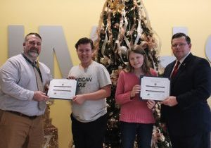 The Knights of Columbus John Marshall Students of the Month for November are Charli Garrison and Edward Huck.